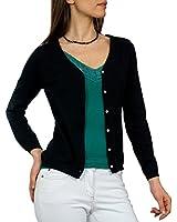 Wool Overs Women's Silk & Cotton V Cardigan