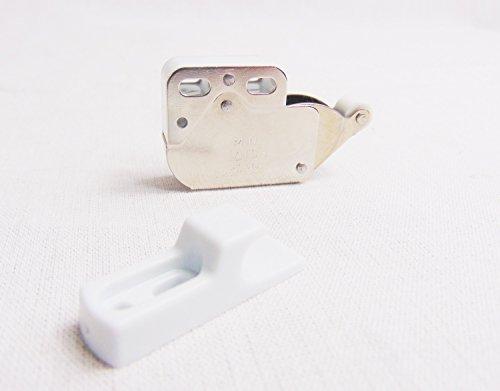 2x GedoTec® Federschnapper MINI-LATCH EDELSTAHL ROSTFREI Druckverschluß Automatik Möbelschnapper | Federschnapp-Verschluss | zum Schrauben | Markenqualität für Ihren Wohnbereich (Mini Verschluss)