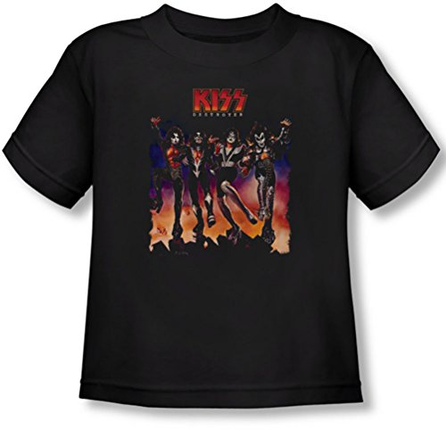 Kiss - Kleinkind Destroyer Abdeckung T-Shirt, 4T, Black