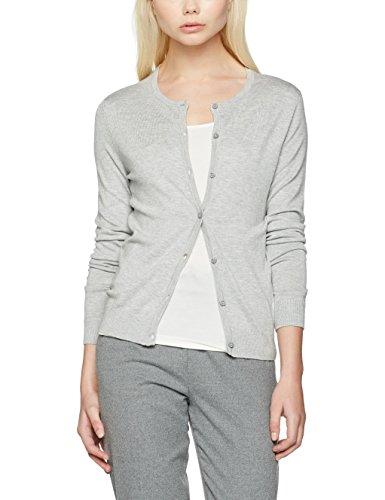 ONLY Damen Strickjacke Onlbella L/S Button Cardigan Knt, Grau (Light Grey Melange), 36 (Herstellergröße: S)