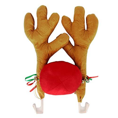 Evilandat Auto Dekoration Weihnachten Elch Geweih Nase für Auto Rudolf - Kfz Kostüm Set
