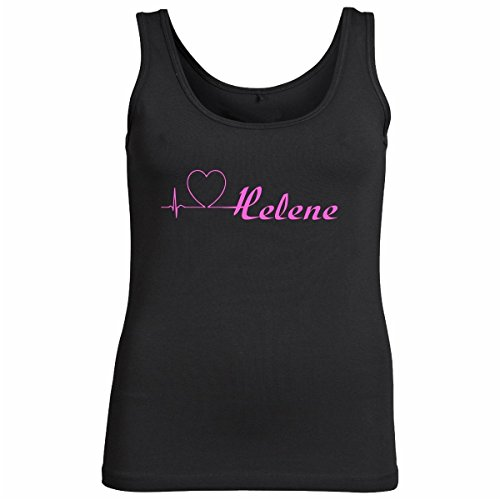 Tank_Top-Helene-Motiv124-Damen-Schwarz/Pink-XL (Konzert-tour-t-shirt Top)
