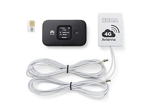 KUMA 4G Caravan Seite Wireless Wifi-Antenne Mobile Tasche, Daten Sim Hotspot Internet Kit mit Booster für Reisemobile Trucks Boote -