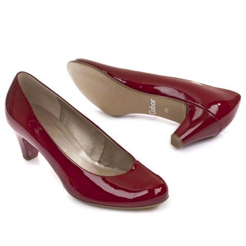 Gabor Schuhe Damen Pumps Kaffir Lack Weite F 85-200 Rosso (rosso)