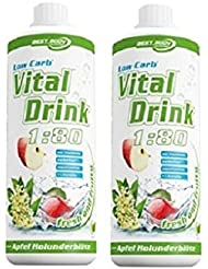 Best Body Nutrition Low Carb Vital Drink 2 x 1 Liter 2er Pack Waldmeister