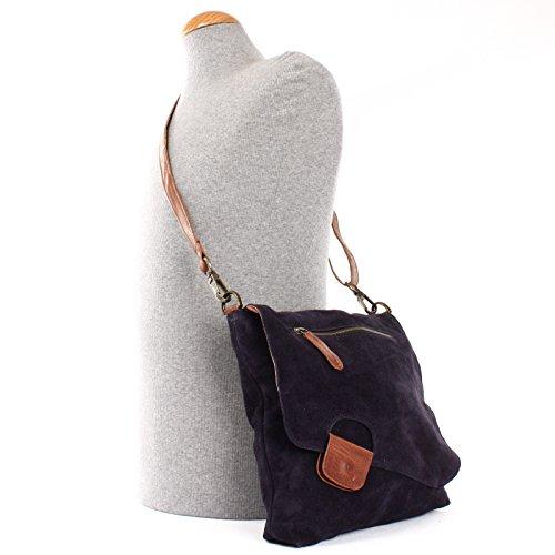 8760be019bf4c ... LECONI Umhängetasche für Damen Crossbag Veloursleder Echtleder Natur  Damentasche Schultertasche Ledertasche Freizeittasche für Frauen Wildleder  ...
