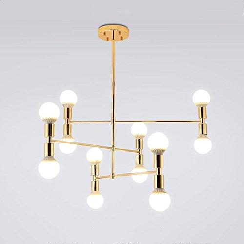 @Leuchter Moderne Kronleuchter Beleuchtung Decken Kronleuchter Kronleuchter 12 Leuchten Embedded-Installationen, Gold-Finishes (ausgabe : 12 heads) - Leuchten-gold-finish