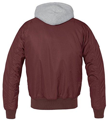 Brandit MA1 Sweathood Jacke schwarz Burgundy