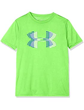 Under Armour Tech Big Logo Solid tee Camiseta de Manga Corta, Niños, Verde (701), S