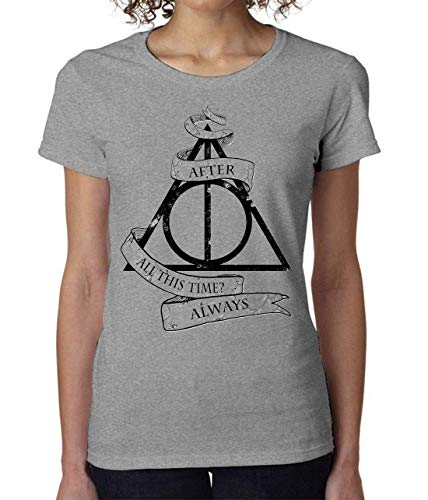 Deathly Hollows from Harry Potter After All This Time Always Women's T-Shirt Damen Short Sleeve Top Small -