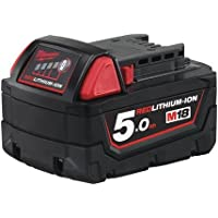 Batteria Milwaukee M18B5 5.0Ah Rossa Ioni Di Litio
