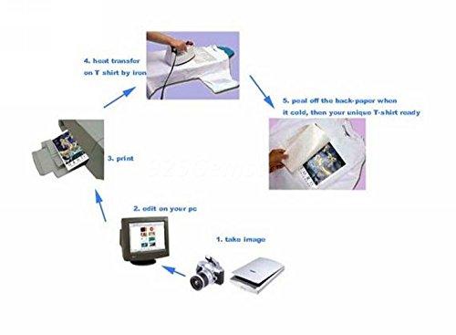 Papier Transfer für Druck und Übertragung BILDER, FOTOS, auf Shirts, Shirt, für helle Textilien, Format Bogen Papier, A4, 210x 297mm Foto Transfer-tool