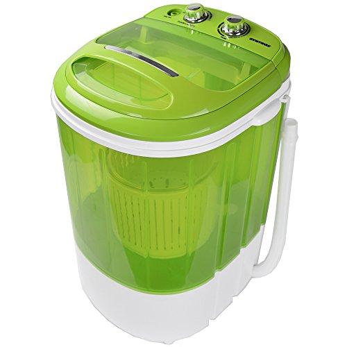 Syntrox Germany WM-200W Waschmaschine mit Schleuder Campingwaschmaschine Mini Waschmaschine (WM-200W-grün)