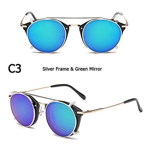 CCGSDJ Mode Steampunk Stil Objektiv Abnehmbare Coole Sonnenbrille Clip Auf Vintage Brand Design Sonnenbrille Oculos De Sol