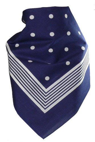 bandana-mit-punkten-in-reiner-baumwolle-farbenblau