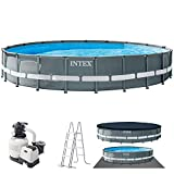 INTEX kit piscine Ultra frame ronde tubulaire 6m10...