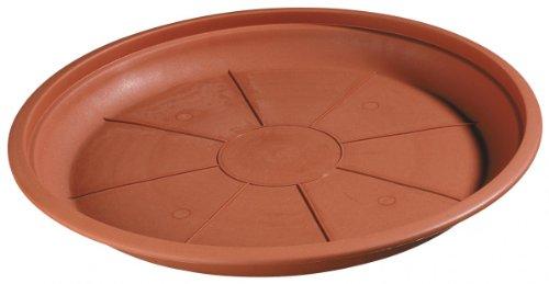 Untersetzer MONTANA / ROMANA rund aus Kunststoff terracotta, Farbe:terracotta;Durchmesser:26 cm