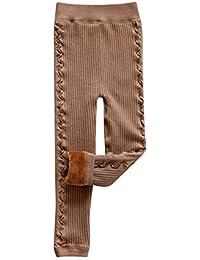 Yonglan Niña Más Terciopelo Leggings Elástico Pantalones Leggins Largos para Otoño Invierno ...