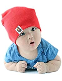 Cute Candy Color Babies'/ Kids' Cotton Beanie/ Hat/ Cap (Model: Br010036) (Red)