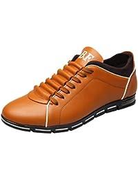 a6ce40f55b7c54 Alaso Mocassins Chaussures de Ville Classique Homme Cuir Sneakers Basses  Casual Cuir Confortable Mode Baskets Plates