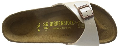 Birkenstock Madrid, Mules Écru  (Graceful Antique Lace)