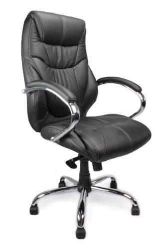 Schienale alto, in pelle, con profili a contrasto (Sedile In Pelle Task Chair)