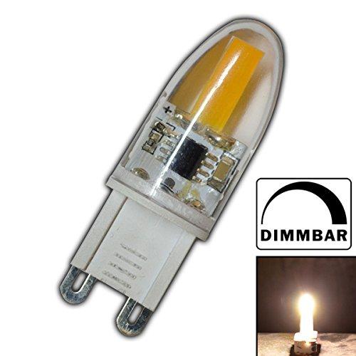 G9 mini COB LED 2 Watt dimmbar A++ warmweiß aus Silikon 360° Grad Energiesparlampe Lampe Strahler Glühbirne Birne Halogen Halogenersatz -