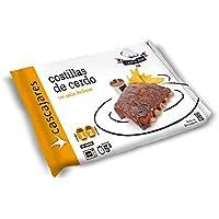 CASCAJARES - Costillas de Cerdo con salsa barbacoa, dos raciones para picar, una para comer. Sin gluten.