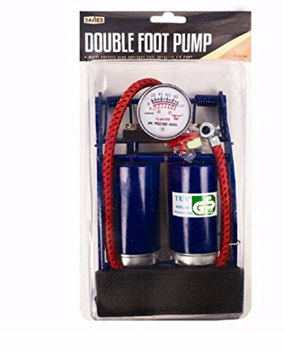 davies-double-foot-tyre-inflator-pump-car-bike-bicycle-with-various-adaptors-heavy-duty