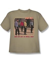 Star Trek - Red Shirt Blues - Youth Sand S/S T-Shirt For Boys