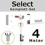 hang-it 4 Meter Bilderschienen - Select - Komplett Set in weiß