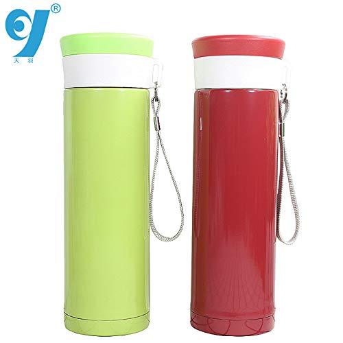 hhbwb Werbegeschenke Becher Student einfache Tasse Neue Vakuum Werbung benutzerdefinierte kreativ, grün, 350 ml