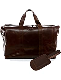SID   VAIN Real Leather Travel Bag Holdall Chester XL Weekender Duffel Bag  Overnight Duffle Bag 4b0390a27d