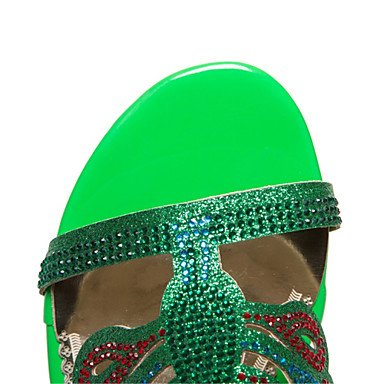RTRY Donna Sandali Estivi Scarpe Club Glitter Materiale Personalizzato Party Di Nozze & Abito Da Sera Chunky Tacco Fibbia Di Strass US11 / EU43 / UK9 / CN44