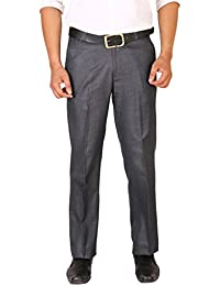 Matalino Men's Blue Regular Fit Formal Trouser - B072DSZGY3