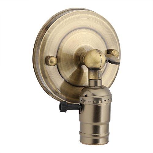 Vintage Luz Soporte de Pared Casquillo Edison con Twist Interruptor para Uso...