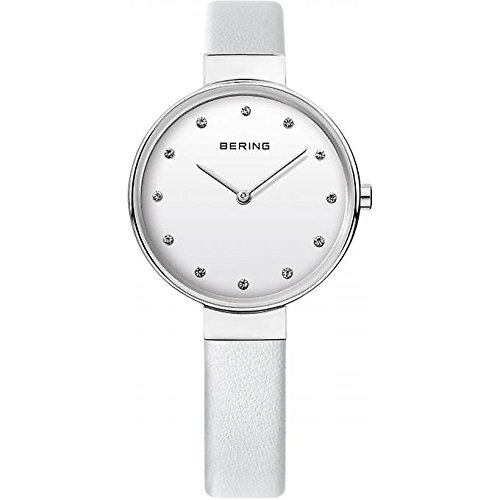 Montre Bering 12034-804 - Montre Saphir Cuir Blanc Femme