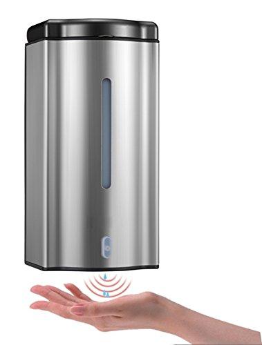 Add Volume Shampoo (TY&WJ Edelstahl 304 Berührungslose Automatischer soap-Dispenser Wandmontage typ Shampoo Lotion-Flaschen Flüssigkeit Seifenkiste Haushalt Badezimmer Hotels -600 ml-Batteriemodelle)