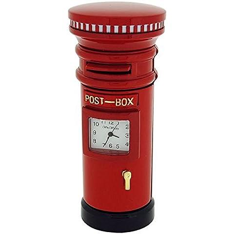 Seguridad en el color rojo de la caja de la carta de la novedad de los colectores de movimiento de cuarzo reloj