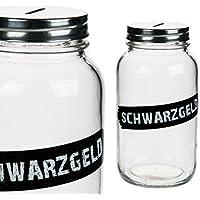 Preisvergleich für Bada Bing Spardose Schwarzgeld Glas mit Schraubverschluss
