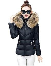 new style ec786 a2afe Giubbotto con pelliccia - Donna: Abbigliamento - Amazon.it