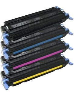 4X Eurotone Laser Toner Cartridge Set remanufactured für HP Color Laserjet 1600 2600 2605 + cm 1015 1017 - Alternative ersetzt HP Q6000A Black, Q6001A Cyan, Q6002A Magenta, Q6003A Yellow -