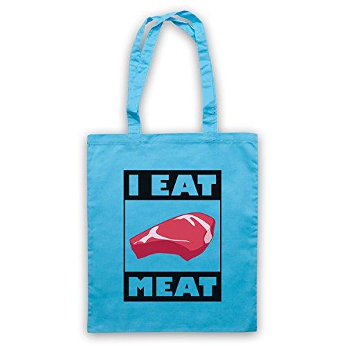 I Eat Meat Funny BBQ Slogan Umhangetaschen Hellblau