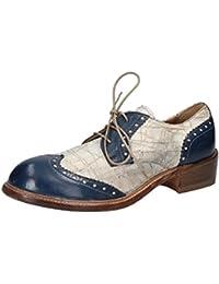 Semler Xenia, Zapatos de Cordones Brogue para Mujer, Azul (Jeans 071), 42.5 EU