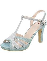4d7f79f8ad Cingant Woman Damen Sandalette/Absatz/Sommerschuhe/Damenschuhe/Elegante  Damenschuhe/High Heels