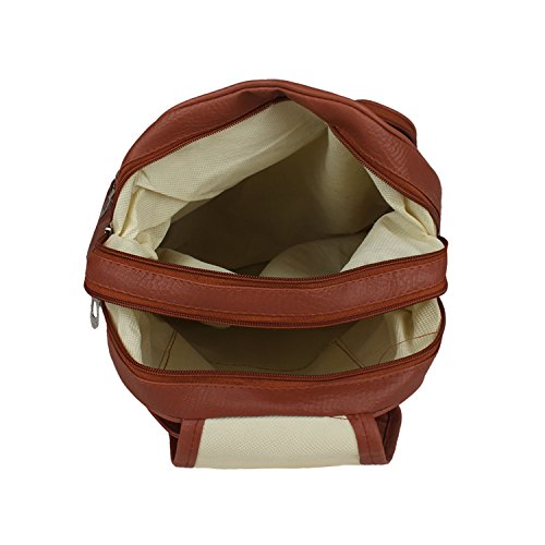 Tarshi Pu Brown Backpack For Women Image 6