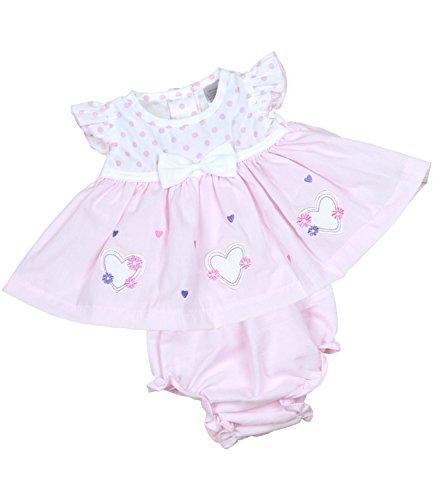BabyPrem Frühchen Kleidchen & Höschen Set Mädchen Babykleidung Herzen 38-44cm ROSA (Höschen Set Mädchen)
