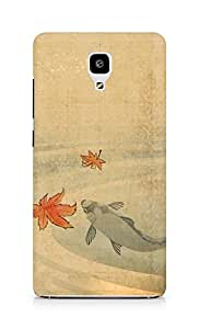 Amez designer printed 3d premium high quality back case cover for Xiaomi Mi 4 (Chinese Art Painting)