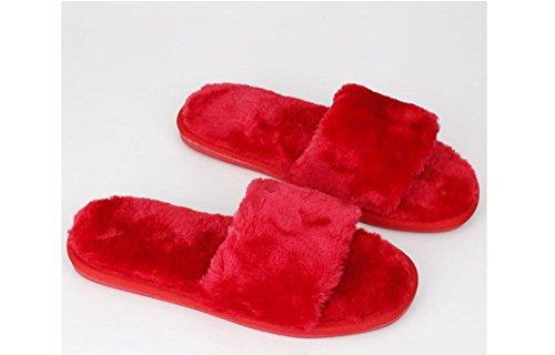 Beauqueen Plush Flip Flop Famille Femmes Hommes Chaud Beaucoup De Différents Types De Taille De Couleur Flip Flop Pantoufles Blue