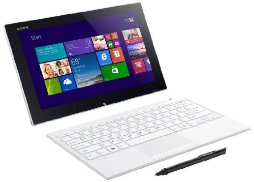 Sony VAIO Tap SVT1121B2EW 29,5 cm (11,6 Zoll Touch) ConvertibleTablet-PC (Intel Pentium 3560Y, 1,2Mhz, 4GB RAM, 128GB SSD, Intel HD, Win 8) weiß Sony Bluetooth-notebooks